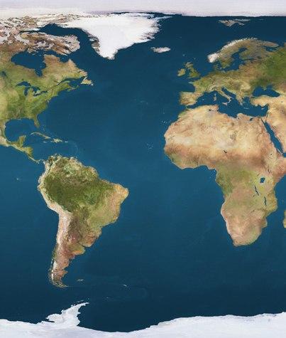 Atlantic Ocean satellite image location map