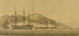 Capture of Chusan (1841) - Image: Attack on Chusan 1841