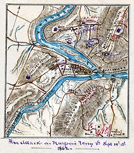 Battle of Harpers Ferry map