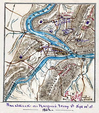 Battle of Harpers Ferry - Image: Attack on Harper's Ferrypass 5