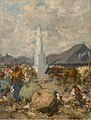 August von Pettenkofen - At the Market near the Holy Trinity Column in Szolnok - O 1661 - Slovak National Gallery.jpg