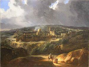 """Louis Nicolas Philippe Auguste de Forbin - Forbin's painting """"Vue de Jérusalem près de la vallée de Josaphat"""""""