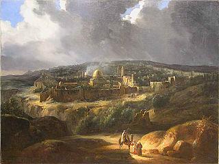 Vue de Jérusalem, prise de la vallée de Josaphat