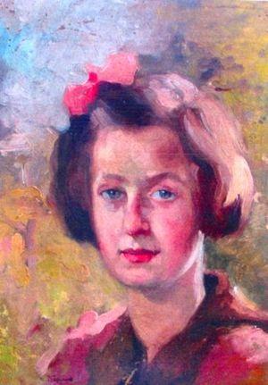 Mihail Sadoveanu - Sadoveanu's daughters, portraits by Aurel Băeșu: Profira,