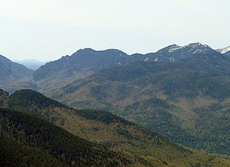 Sawteeth (New York) - Ausable Valley, Sawteeth (left), Pyramid and Gothics (right)