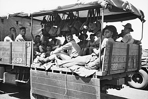 2/4th Machine Gun Battalion (Australia) - Troops from the 2/4th travel by truck from Alice Springs to Birdum, October 1941