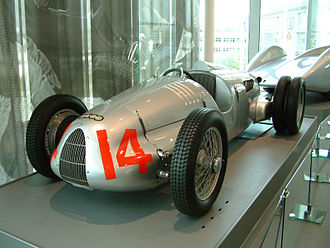 Auto Union racing car - 1938 V16 Type C/D at the Audi museum, Ingolstadt