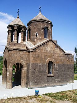 The newly-opened church of Surp Astvatsatsin built upon old foundations