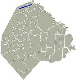 ubicación geografica de la calle huidobro