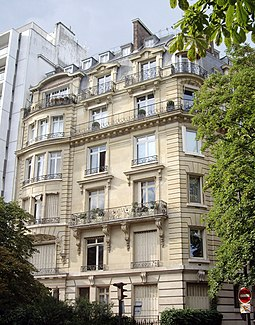 The last residence of Maria Callas, in Paris Avenue Georges-Mandel, 36, Paris 16.jpg