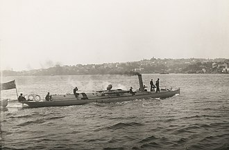 Colonial navies of Australia - The torpedo boat Avernus in Sydney Harbour