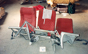 Avianca Flight 52 - The structural limitations of the aircraft seats contributed to the passengers' injuries.