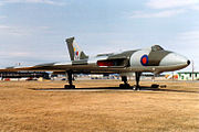 Avro Vulcan XL361 on display at CFB Goose Bay in 1988