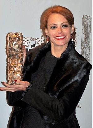 37th César Awards - Bérénice Bejo, César Award for Best Actress.