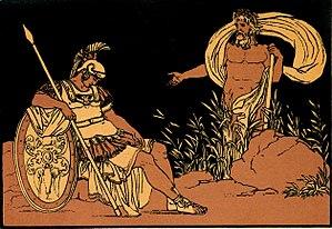 Tiberinus (god) - Image: B. PINELLI, Enea e il Tevere