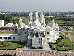 BAPS Shri Swaminarayan Mandir near the West Humber River