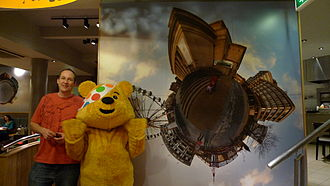 Children in Need - Pudsey Bear raising funds for BBC Children in Need 2009.