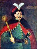 Ο κοζάκος ηγέτης Μπογκντάν Χμελνίτσκι. Ουσιαστικά προσέφερε την Ουκρανία στον τσάρο Αλέξιο.