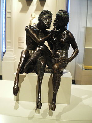 Satyress - Satyr and Satyress by Andrea Briosco, Victoria and Albert Museum.