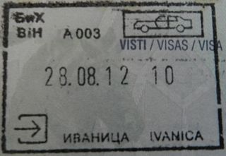 Policy on permits required to enter Bosnia and Herzegovin