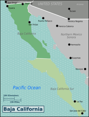 Baja California – Travel guide at Wikivoyage on california regions 4th grade worksheet, california four regions map printable, california outline vector, california county map outline, california map outline printable, california regions fourth grade, ca outline,