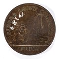 Baksida av mynt med bild av lejon samt text Sierra Leone Company Africa - Skoklosters slott - 99247.tif