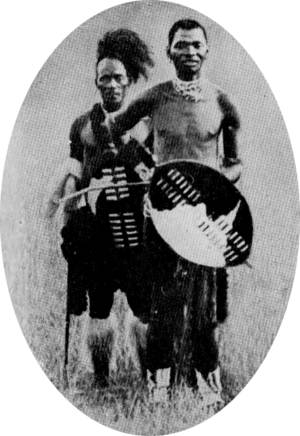 Bambatha Rebellion - Bhambatha (on the right) with an attendant