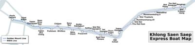 Saen Saep Express Boat Map