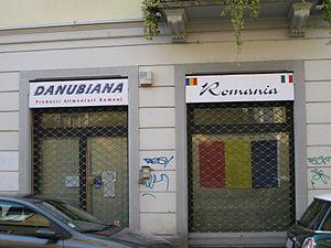 Romanians in Italy - Romanian market in Monza in 2011