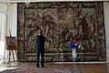 Barack Obama admires a tapestry at Prague Castle, April 8, 2010.jpg