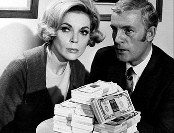 Photo of Barbara Bain and Alf Kjellin from the...