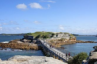Bare Island (New South Wales) - Image: Bare island fort La Perouse