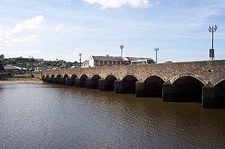 River Taw river in Devon, United Kingdom