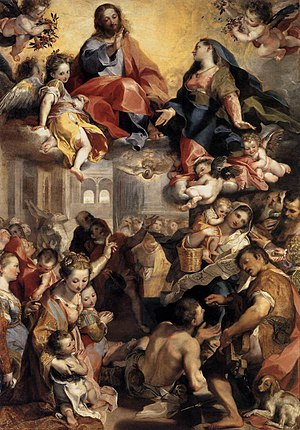 Mother of the Church - Madonna del Popolo (Madonna of the people) by Federico Barocci, 1579
