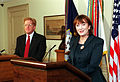 Baroness Elizabeth Symons with Rudy de Leon, 2001.jpg
