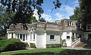 National Register of Historic Places listings in San Mateo County, California - Image: Barron Latham Hopkins Gate Lodge