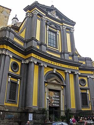 Santissima Annunziata Maggiore, Naples - Façade of Santissima Annunziata.