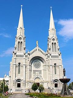 Basilica of Sainte-Anne-de-Beaupré Church in Quebec, Canada