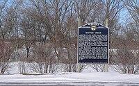 Battle Creek, Nebraska historical marker.JPG