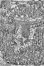 Battle of Fornovo, contemporary depiction, 15./16.  century