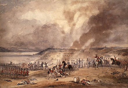 The French attempted to retake Quebec in 1760. Battle of Sainte-Foy.jpg