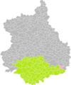 Bazoches-les-Hautes (Eure-et-Loir) dans son Arrondissement.png