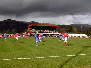 Sauchie Juniors F.C. - Home game at Beechwood Park against Glenrothes, 26 March 2004