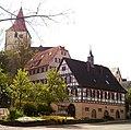 Beihingen, altes Rathaus, altes Schulhaus, Amanduskirche.jpg
