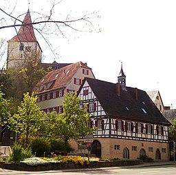 Beihingen, altes Rathaus, altes Schulhaus, Amanduskirche