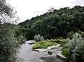 Beim 366 km langen Neckartalradweg, Der Neckar bei der Golfanlage unter der Weitenburg - panoramio (1).jpg