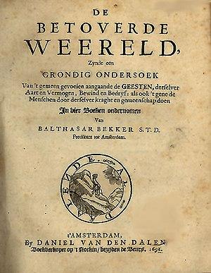 Balthasar Bekker - Cover of De betoverde weereld