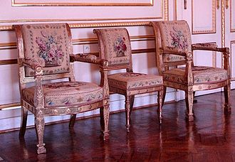 Beauvais Manufactory - Beauvais tapestry upholsters seats given by Louis-Philippe as a wedding gift to his daughter, 1832