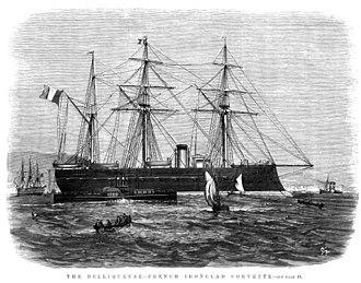 French ironclad Belliqueuse - Image: Belliqueuse (1865)