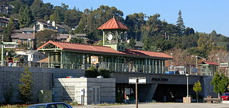 Belmont, California - Train station in Belmont